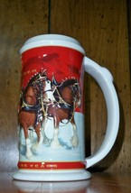 Budweiser 25th Anniversary 2004 Holiday Stein - CS608 - $14.96