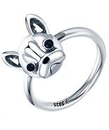 Presentski Bulldog Sterling Siver Ring Cute Birthday Gift for Girls and ... - $19.93