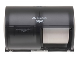 Georgia-Pacific 56784 Compact Side-By-Side Tissue Dispenser Smoke - $10.00