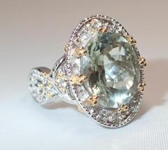 Estate Gems en Vogue Michael Valitutti Oval Green Amethyst CZ Ring SZ 7 1/2 - $121.54
