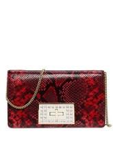 Michael Kors Ellie Medium Python Embossed Leather Flap Shoulder Bag / Cl... - $159.00