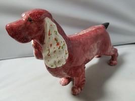 Vintage Dog Figurine Ceramic Pottery Painted Glazed Home Decor Gift Pape... - $25.10