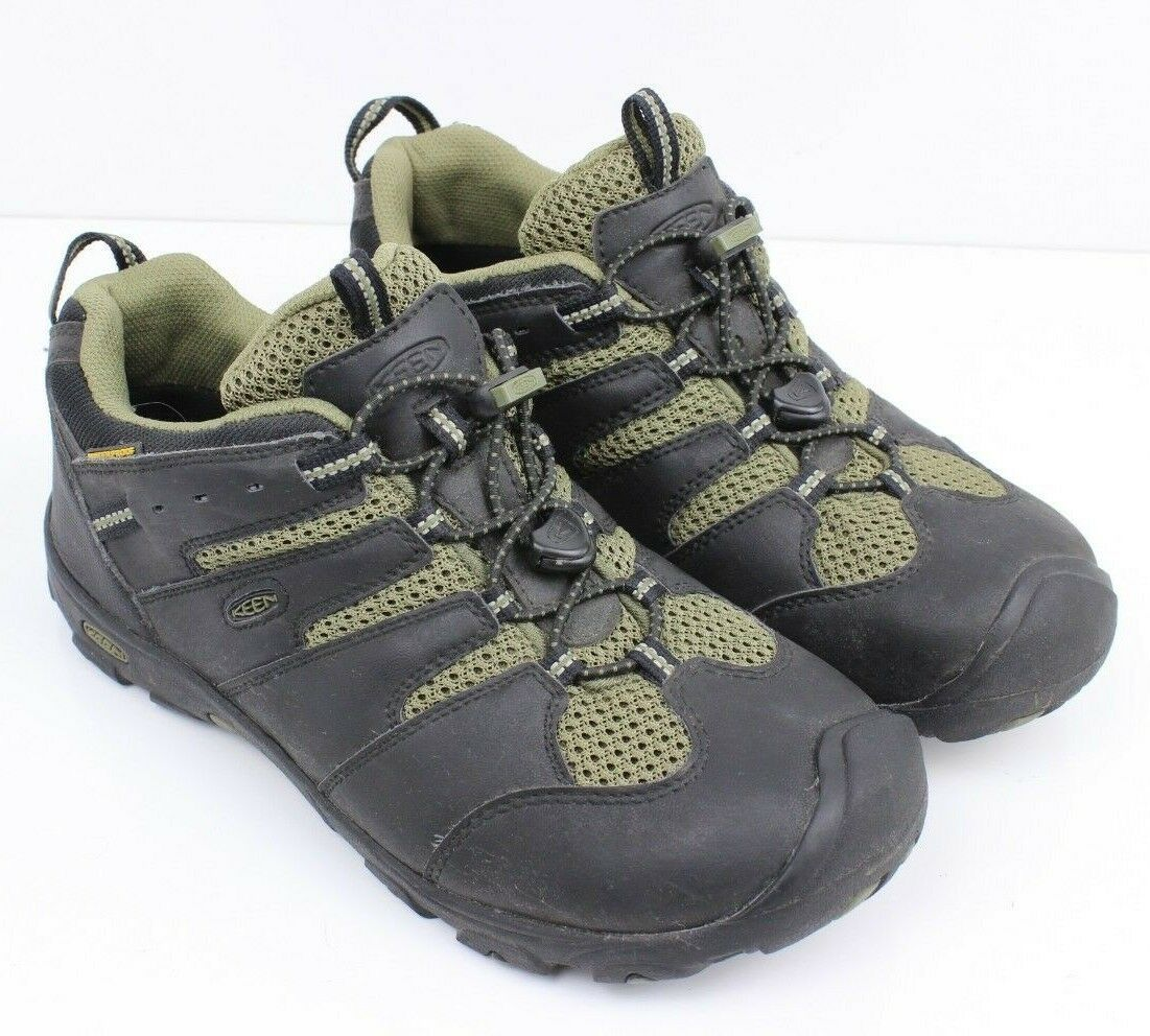 61664a77e85b KEEN Koven Low Leather Hiking Trail Shoes Mens 39 Eur 6 US M Black Olive  Green