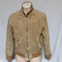 VTG LL Bean Suede Leather Jacket Western Cowboy USA Bomber Sport Coat Tr... - $63.99