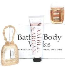 Bath & Body Work Amber & Argon Hand Cream, Vanilla Sugar PocketBac, Gold... - $19.75
