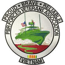 "11"" VIETNAM PBR FORCES VETERAN ASSOCIATION EMBROIDERED JACKET PATCH - $27.07"
