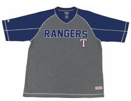 Mens Stitches Royal Blue & Gray Texas Rangers MLB Performance Raglan T-s... - $22.99