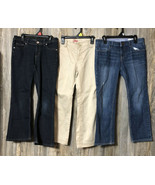 GAP Khaki Pants 1969 Jeans Jordache Sparkly Straight Size 8 Plus 8 1/2 L... - $29.69