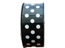 "Hobby Lobby Ribbon Boutique Polka Dot Black & White Ribbon, 1.5"" Wide #579904"