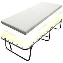 Deluxe Guests Folding Bed Roll Away Guest Portable Sleeper Foam Mattress... - $115.59