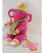 Elroy Pink Sock Elephant Stuffed Plush Toy 227718 Canon Monkey Monkeez &... - $12.86