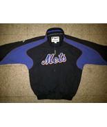 Authentic MLB Majestic New York NY Mets Black Royal Blue Orange Jacket S... - $99.99