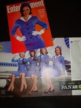 Pan AM TV drama 3 magazine clipping AD mini poster Entertainment Weekly - $11.30