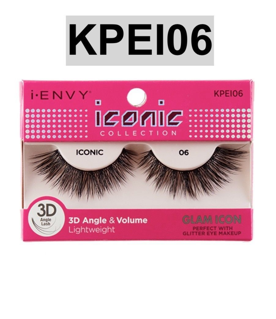 f90c6cb853a S l1600. S l1600. I ENVY BY ICONIC COLLECTION 3D ANGLE & VOLUME EYELASHES #  KPEI06 GLAM ICON. I ENVY BY ...