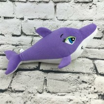 Toy Factory Lady Dolphin Plush Purple Stuffed Animal Marine Ocean Stuffed Toy - $7.91