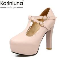 Sweet strap Fashion T He 2018 Platform Pumps Spring Solid High Karinluna Autumn w4xtpYUzq