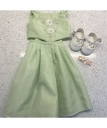 American Girl Doll Junior Bridesmaid Outfit 2 Pc Dress Hair Comb Shoe Mi... - $43.28