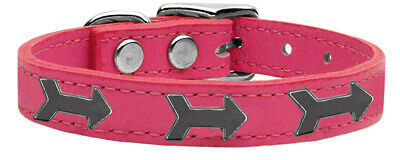 Primary image for Arrow Widget Genuine Leather Dog Collar Pink 12