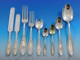 Indian by Whiting Sterling Silver Flatware Set Service 66 Pieces Dinner ... - $6,350.00