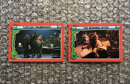 1991 Topps Teenage Mutant Ninja Turtles TMNT II Movie Cards Lot: #97 & #98 - $3.92