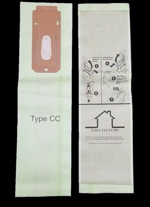 8 Oreck CC Allergen Vacuum Cleaner Bags To Fit all XL XL2 XL21 Upright Models image 2