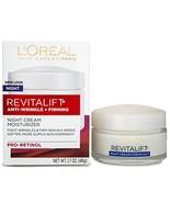 L'Oreal Paris, RevitaLift Anti-Wrinkle + Firming Night Cream Moisturizer... - $10.01