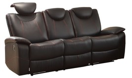 Talbot Double Reclining Sofa in Black Leather by Homelegance - $18.192,13 MXN