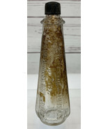 "Evangeline Pepper Sauce Glass Embossed Bottle 5"" St. Martinville LA ULTR... - $48.88"