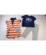 Carters & Childrens Place Boys 6-9 Months Guitar One Piece Baseball Shir... - $9.89