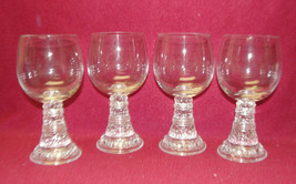 "FOUR (4) THOMAS Crystal - BACCHUS Pattern - 5 3/4"" WINE GOBLETS - $42.09"