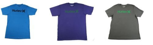 Hurley Men's Tee Shirt One & Only Icon Logo T-Shirt Short Sleeve Crew Neck NEW