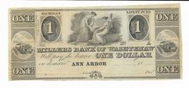 $1 Michigan Millers Bank of Washtenaw 18XX Ann-Arbor  remainder 2 maids ... - $89.51