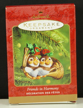 Hallmark Ornament FRIENDS IN HARMONY OWLS on FRENCH HORN New in Box 2000 - $9.95