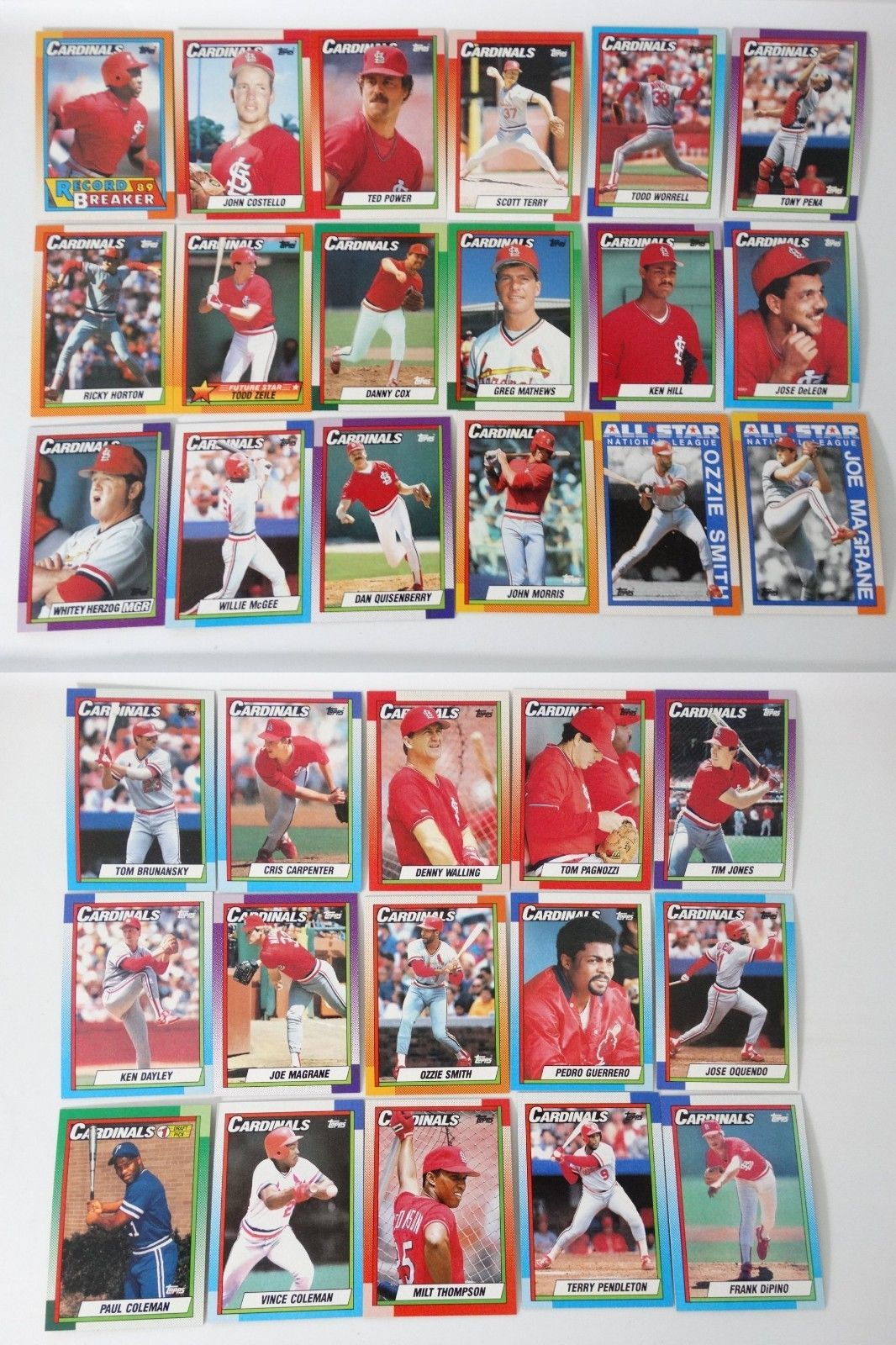 1990 Topps St Louis Cardinals Team Set Of And Similar Items