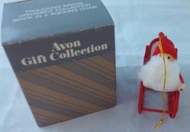 Avon Christmas Decoration Frolicking Santas Ornament Collection Santa on... - $6.79