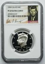 1999S SILVER KENNEDY Signature  HALF DOLLAR NGC PF 69 ULTRA CAMEO Coin SKU C44