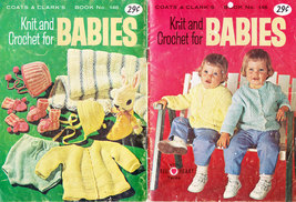 Vtg. Crochet Knit & Crochet For Babies No. 146 Coats & Clark - $5.50