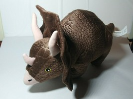 "Kohls Cares Triceratops Plush Brown Dinosaur Stuffed Animal Toy 14"" EUC Clean - $15.88"