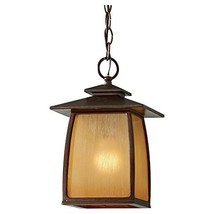 Sea Gull Lighting OL8511SBR Wright House One Light Outdoor Pendant Lantern, Sorr - $133.07