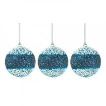 True Blue Beaded Ball Ornament Trio - $37.58