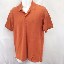 IZOD Shirt Short Sleeve Mens Orange Rust Pull Over Size M Medium Cotton - $8.70