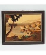 Vintage Arte Intarsio Legno Sicilia Italia - $91.22