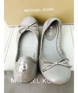 NIB $79 Michael Kors MK City Aluminum Leather Ballet Flats Sz 7M Dustbag - $69.29