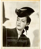 Vintage Dorothy Lamour Hollywood Hat Fashion Photo  - $14.99