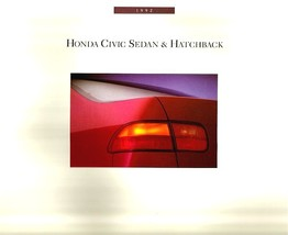 1992 Honda CIVIC SEDAN HATCHBACK sales brochure catalog US 92 VX Si DX L... - $9.00