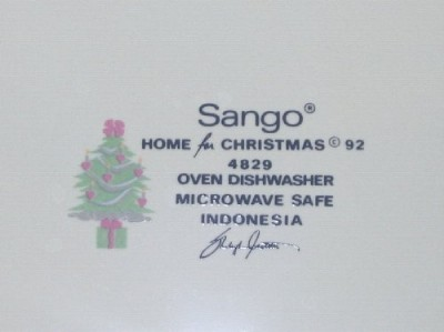 Sango Home for Christmas 4829 Round Platter Chop Plate