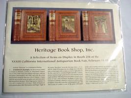 Heritage Book Shop 2000 California International Book Fair Catalog - $11.99