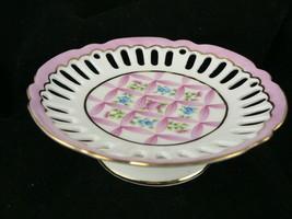 Royal Danube Pedestal Candy Dish Hand Painted Porcelain  - $19.79