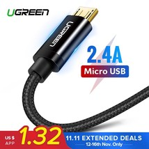 Ugreen Micro USB Cable 2.4A Nylon Fast Charge USB Data Cable for Samsung... - $9.00