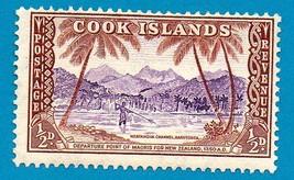 Cook Islands (mint) Stamp (1949) 1/2p Maori Departure Point Scott Cat #1... - $2.99